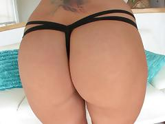 Courtney Cummz peels off her thong and gets her ass gaped open tube porn video