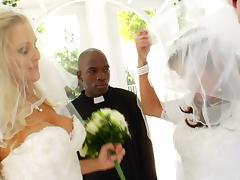 Charming Bride With Hot Ass Awarding A Big Black Cock Titjob tube porn video