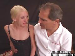 Boney Blonde Bondage Pain ZAPPING tube porn video