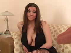 Awesome sex scene with naturally busty brunette Sara Stone tube porn video