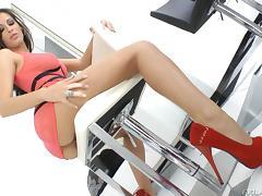 Hardcore sex clip with brunette milf Kortney Kane wearing high heels tube porn video