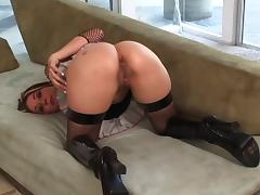 Anal Delilah Strong takes cumshot after sucking dick and anal exploring tube porn video