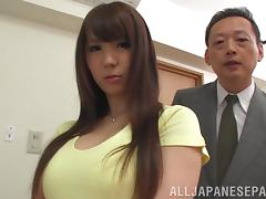 Nasty Japanese hot ass lady Yuka Kitsu gets drilled doggystyle in a hot orgasm tube porn video