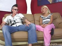 A punker lesbian babe seduces a sexy blonde and eats her pussy tube porn video