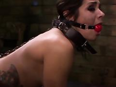 Strapon loving sub with anal hook gets dominated tube porn video
