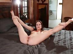 Flexible babes strip down and have lesbian sex all over the house tube porn video