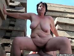 BBW granny works grandpa\'s small cock tube porn video