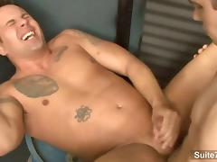 Finn Daniels and Jeremy Lange fuck in the garage tube porn video