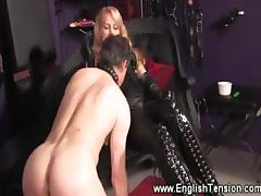 Domina feeds her sub her cigarette smoke tube porn video