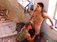 Military beefy fucks hardcore tube porn video