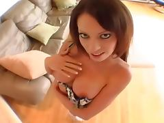 Vanessa fucked in panties and thigh high nylon tube porn video