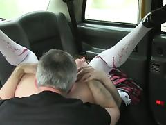 Amateur girl sucked and fucked cock for a free taxi fare tube porn video