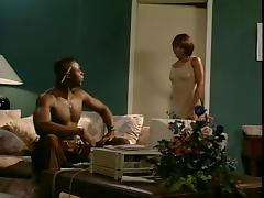 Black slut gets screwed in the cellar tube porn video