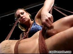 Blonde mistress Harmony Rose gives Rico some painful lessons tube porn video