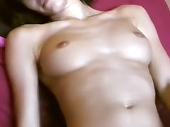 Yummy immature using phone as vibrator tube porn video