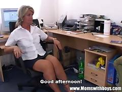 Mature Blonde Executive Fucks Her Buff Applicant tube porn video