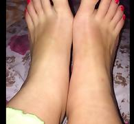 Lina moves her sexy (size 38) feet tube porn video