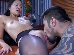 PantyhoseLine Video: Mima A and Frederic tube porn video