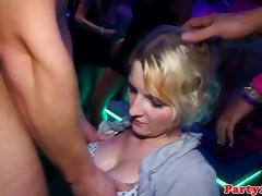 Eurosluts receive jizz at public group fuck tube porn video