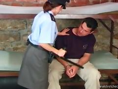 Police officer in stockings fucked hard and anal stretched tube porn video