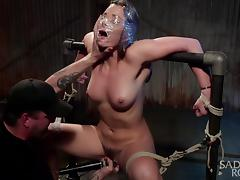 dani daniels gets tied with sadistic rope and fucked tube porn video