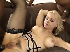 Big tits Sarah Vandella all holes rammed tube porn video