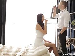 She swallows cum after her rectum is throbbed hardcore tube porn video