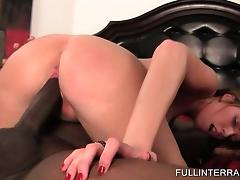 Curly blonde taking giant black cock for a ride tube porn video