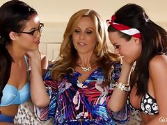 three lesbians in vacation tube porn video