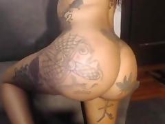 Big brown ass slurping black cock tube porn video
