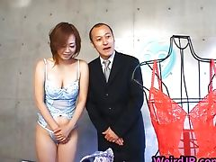 Asian babe gets her juicy tits squeezed tube porn video