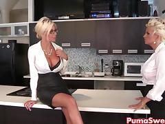 Puma Swede & Bobbi are the Lesbian Office Slut! tube porn video