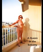 A QUEEN ON THE BALCONY tube porn video