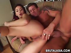 Sucking and getting ass fucked by her hunk tube porn video