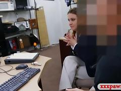 Business woman banged at the pawnshop for a plane ticket tube porn video