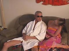 Old Man Impregnates his teenage baby sitter tube porn video