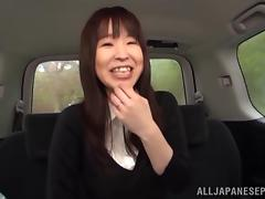 Busty Japanese amateur gets fondled in the car then fucked till orgasm tube porn video