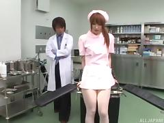 Slutty nurse in soft pantyhose fucked by a doctor tube porn video
