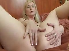 Mature Blonde Takes A Bit Black Dick In The Ass tube porn video
