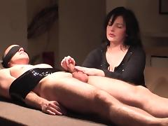 bondage milking with cock harness tube porn video