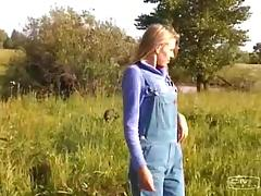 Farm girl meets a couple of military guys and fucks them both tube porn video