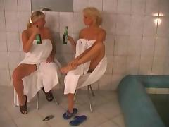 Sweaty sex in the sauna with a big tits milf cock craver tube porn video