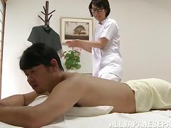 His sexy Asian massage therapist rubs him down and fucks him tube porn video