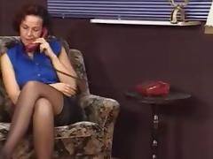 German MILF in stockings tricks her aerobics teacher to fuck tube porn video