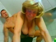 Big boobed Russian mature fucking the muscular repairman tube porn video