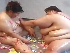 Japanese BBW lesbian couple tube porn video
