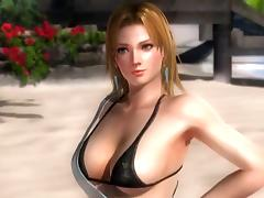 Tina Armstrong - DOA5 - nude posing - 3d billibongs tube porn video
