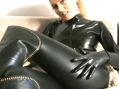 latex catsuit sweat tube porn video