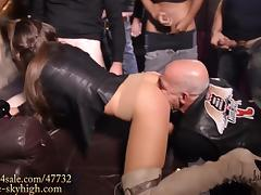 The best gangbang slut eat filled condom& fucked in boots tube porn video