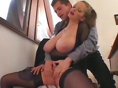 What fabulously floppy tits tube porn video